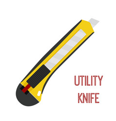 utility knife cutter stationary blade vector image