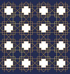 vintage gold art deco frame seamless pattern vector image