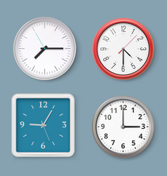 wall clock time symbols switches clock vector image