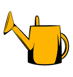 Watering can icon cartoon vector