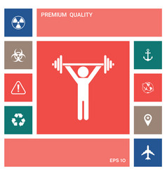 weightlifting dumbbell training icon elements vector image