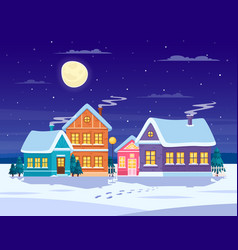 winter landscape composition vector image