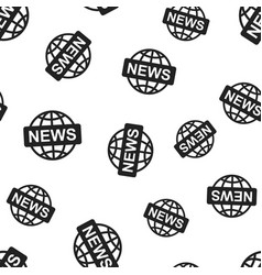 world news seamless pattern background business vector image