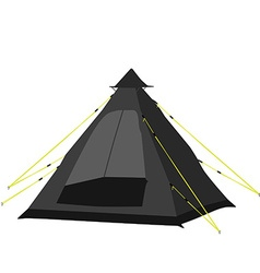 Camping tent black vector