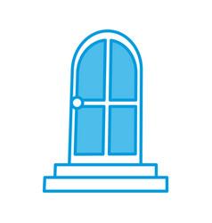 house door isolated vector image