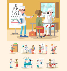 medical treatment ophthalmology composition vector image