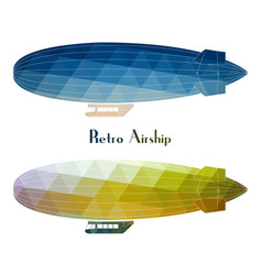retro aircraft flying with white background vector image