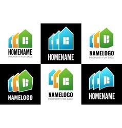 Set logos house vector image vector image