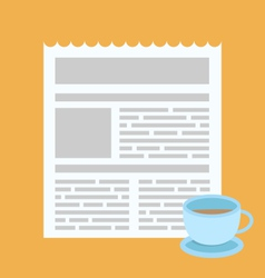 Sigh simple icon newsletter coffee cap for web and vector image