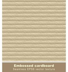 Embossed cardboard seamless vector