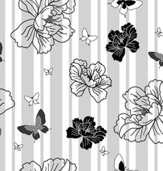 floral butterflies wallpaper vector image vector image
