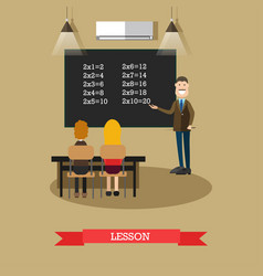 lesson concept in flat style vector image vector image