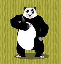 Panda thumb up and winks Chinese bear all good vector image vector image