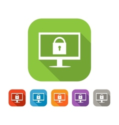 Color set of flat web safety icon vector image vector image