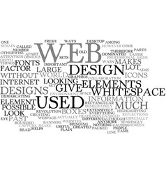 elements of web graphics text background word vector image vector image