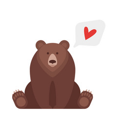 flat style of canadian bear vector image vector image
