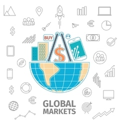 Global Markets concept vector image