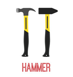 hammer construction tool work equipment vector image