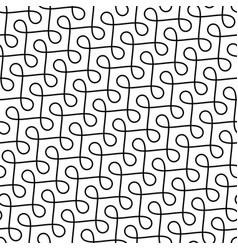 monochrome seamless thin swirls pattern vector image vector image