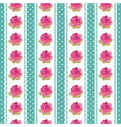Seamless wallpaper pattern with flowers on blue vector image vector image