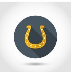 Happy horseshoe icon vector image