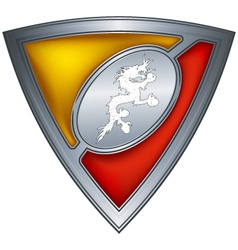 steel shield with flag bhutan vector image vector image