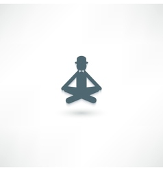 The gentleman in the lotus position vector