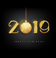 2019 happy new year 2019 happy new year vector image