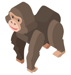 3d design for big orangutan vector