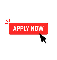 apply now job submit button icon apply now vector image