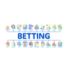 Betting and gambling minimal infographic banner vector
