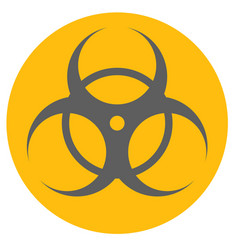 Biological hazard sign flat style icon vector
