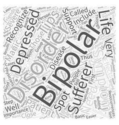 Bipolar symptom Word Cloud Concept vector