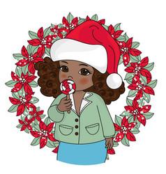 black christmas portrait vector image