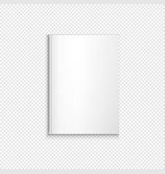 blank book template mockup vector image