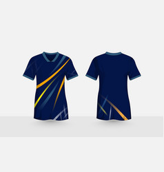 Blue layout e-sport t-shirt design template vector
