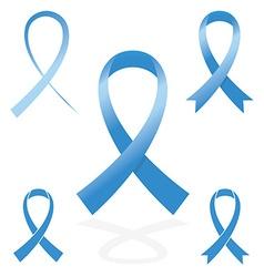 Blue sign ribbon cancer symbol vector