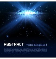 Blue spotlight background vector image