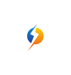 bolt energy logo design template vector image