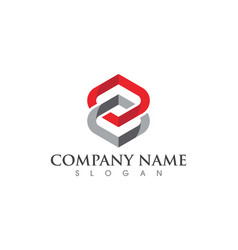 business corporate abstract unity logo vector image