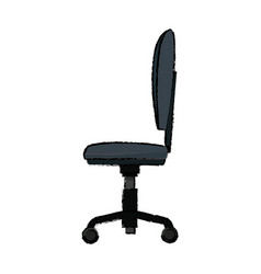 Chair office wheel soft comfort vector