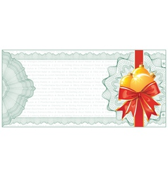Christmas gift certificate vector