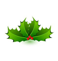 christmas mistletoe celebration icon vector image