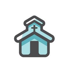 church catholic house prayer icon vector image