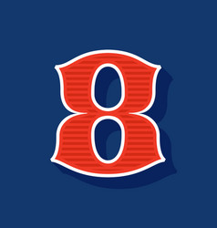 Classic style number eight sport logo vector