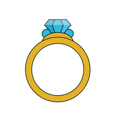color image diamond engagement ring vector image