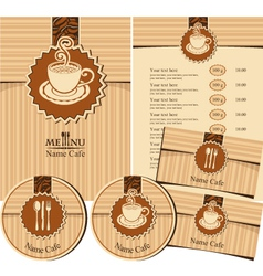 Design elements for a cafe vector