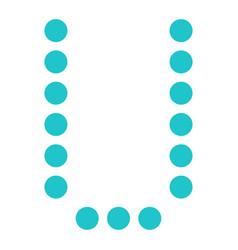 digital letter u display board round dot vector image