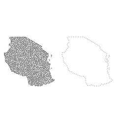 Dot contour map of tanzania vector
