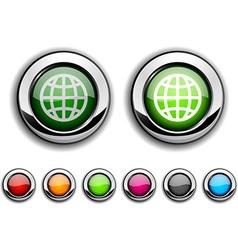 Earth button vector image